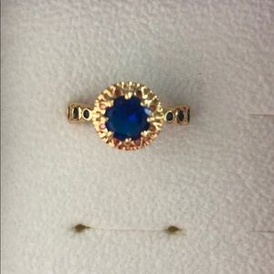 Fragrant Jewels blue gold ring size 5